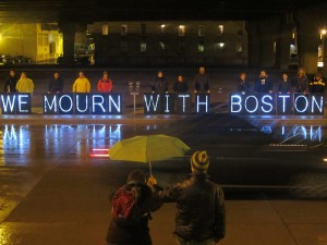 Overhead Light Brigade Mourns for Boston