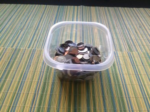 Step 2-Put Change in Convenient Container