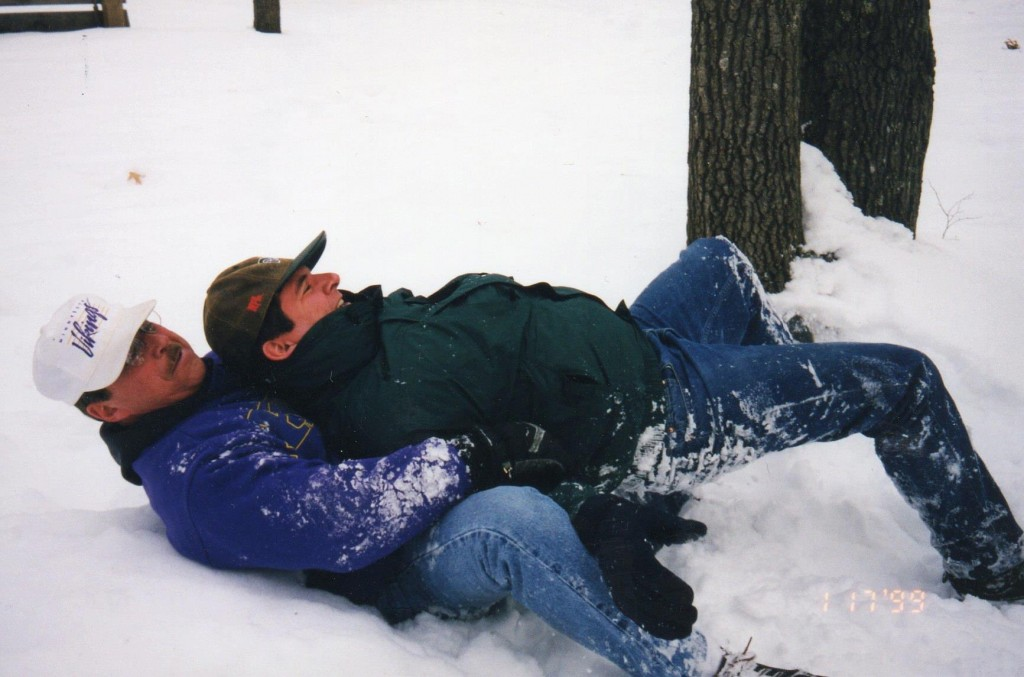 Jerry and Patrick Snow Wrestling