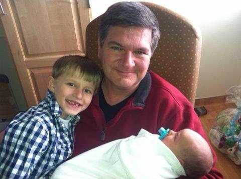 Mason Grandpa and Baby Easton