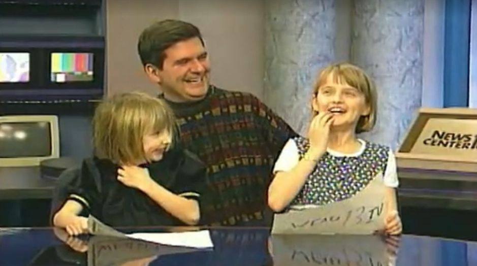 Pat and Girls On Set